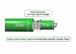 Auto-Mow Impact Safety vágásbiztos határoló vezeték 3,6 mm zöld (800 méter) 6.Kép