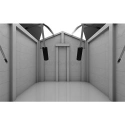 Auto-Mow My Robot Home robotfűnyíró ház garázs automata ajtóval fehér 7.Kép