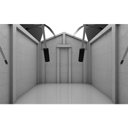 Auto-Mow My Robot Home robotfűnyíró ház garázs automata ajtóval natúr fa 4.Kép